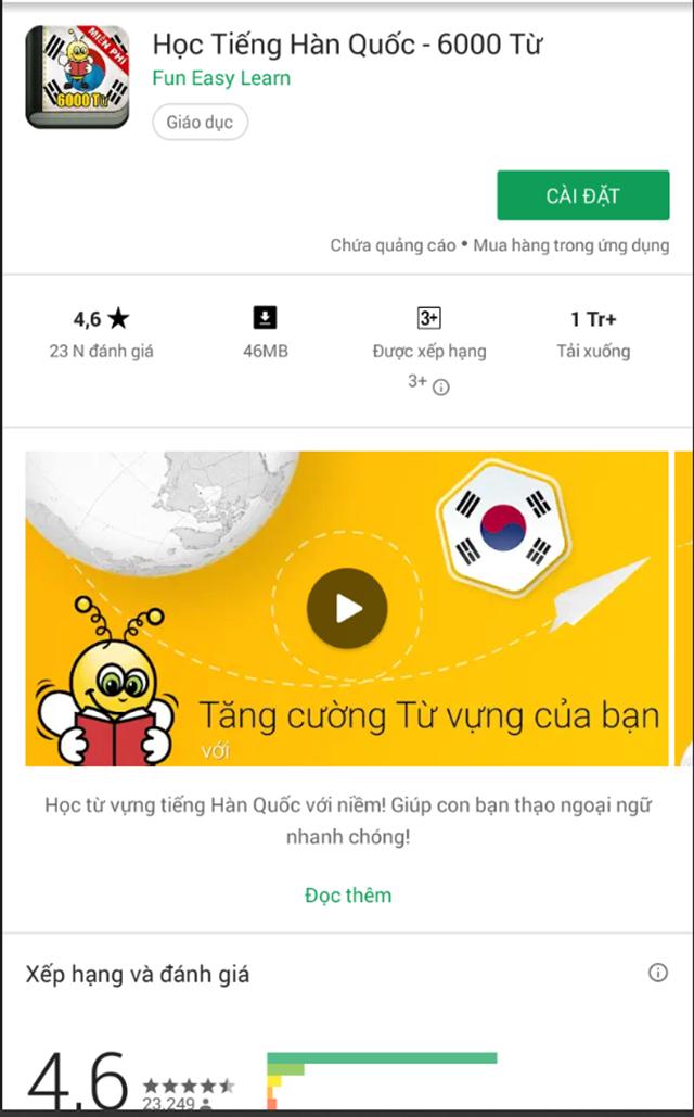 Phần mềm học tiếng Hàn Quốc 13